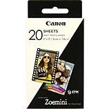 Papier photo Canon  20 feuilles ZINK pour Zoemini