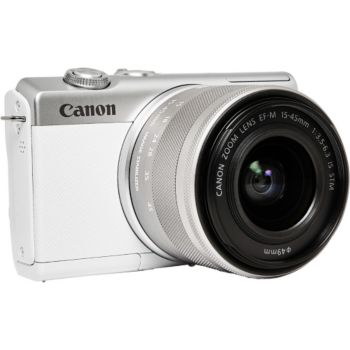 Canon EOS M200 Blanc + EF-M 15-45mm IS STM