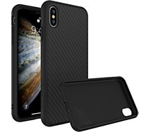 Coque Rhinoshield  iPhone Xs SolidSuit Carbone noir