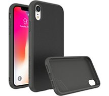 Coque Rhinoshield  iPhone Xr SolidSuit Microfibre noir