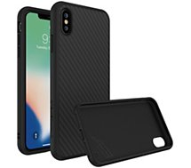 Coque Rhinoshield  iPhone Xs Max SolidSuit Carbone noir