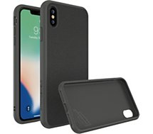 Coque Rhinoshield  iPhone Xs Max SolidSuit Microfibre noir