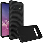 Coque Rhinoshield Samsung S10 SolidSuit Carbone noir