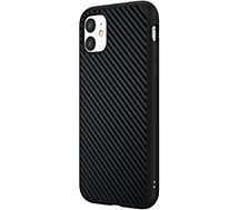 Coque Rhinoshield  iPhone 11 SolidSuit Carbone noir