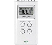 Radio analogique Sangean  POCKET 120 blanc