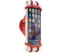 Support smartphone Bone Porte portable Bike tie Rouge