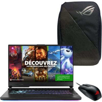 Location PC Gamer Asus STRIX-G17-G712LW-EV063T+backpack+souris