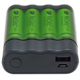 Chargeur + accumulateur GP  Pilles AA / AAA + Appareils en USB