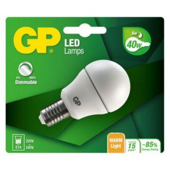 GP LED MGLOBE DIM E14 - 6W-40W