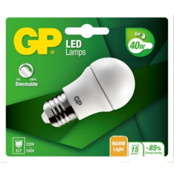 GP LED MGLOBE DIM E27 - 6W-40W