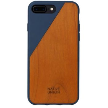 Native Union iPhone 6/7/8 Plus Wooden bois/bleu marin