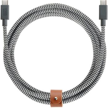 Native Union USB-C / USB-C 2M40 Kevlar -noir/Blanc