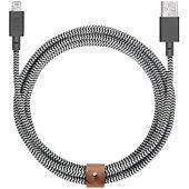 Câble iPhone Native Union Belt Zebra 1M20 Kevlar