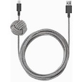 Câble USB C Native Union Night Zebra 3M Kevlar USB A/USB C