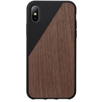 Native Union iPhone X Wooden bois/noir