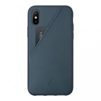 Native Union iPhone Xr ClicCard Cuir bleu