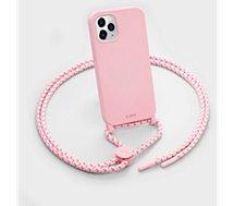 Coque collier Laut  iPhone 12 mini Pastels rose