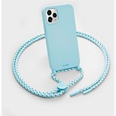 Coque collier Laut iPhone 12 mini Pastels bleu