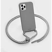 Coque collier Laut iPhone 12 mini Pastels gris