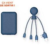 Batterie externe Xoopar Powerpack bio Bleu + cable