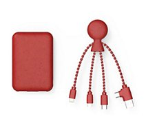 Batterie externe Xoopar  Powerpack bio Rouge + cable