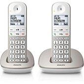 Téléphone sans fil Philips XL Duo Range Silver