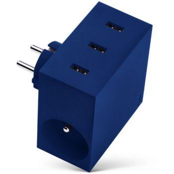 Usbepower 3 USB + 2 Gigognes - Bleu