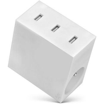 Usbepower 3 USB + 2 Gigognes - Blanc