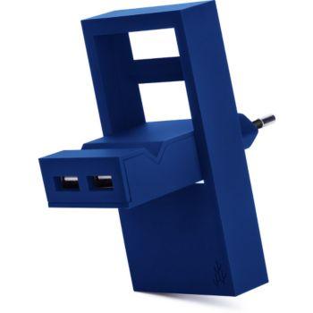 Usbepower 2 USB + Support téléphone- Bleu