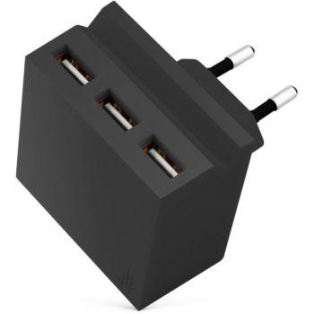 Usbepower 3 USB + Support téléphone - Noir