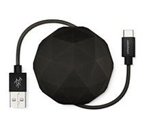 Câble USB C Usbepower  1M Cosmo Balle - Noir