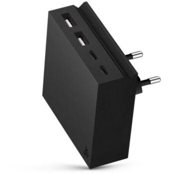 Usbepower 2USBA / 2 USBC + USBC 27W Noir