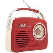 Radio analogique Akai AR-78 rouge