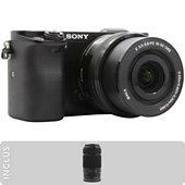 Appareil photo Hybride Sony A6000 noir + 16-50mm + 55-210mm