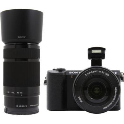 Location Appareil photo Hybride Sony A5100 noir + 16-50mm + 55-210mm
