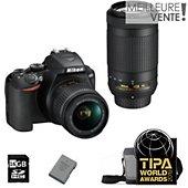 Appareil photo Reflex Nikon D3500+18-55VR+70-300VR+Sac+16Go+Batterie