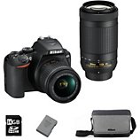 Appareil photo Reflex Nikon  D3500+18-55VR+70-300VR+Sac+16Go+Batterie