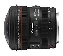 Objectif pour Reflex Plein Format Canon EF 8-15mm 4.0 L USM Fisheye