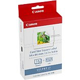 Cartouche d'encre Canon KC18IS 18 stickers 54x54mm Selphy