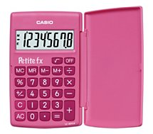 Calculatrice standard Casio  Petite FX rose
