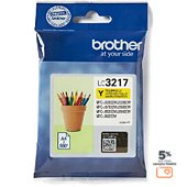 Cartouche d'encre Brother LC3217 Jaune