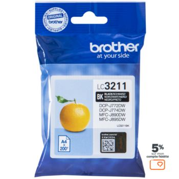 Brother LC3211 Noir