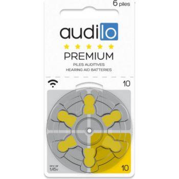 Audilo Piles auditives Audilo Premium (Taille 6