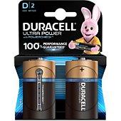 Pile Duracell ULTRA POWER D/LR20, pack de 2 unités