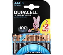 Pile Duracell  ULTRA POWER LR03 AAA 6+2