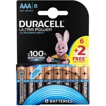 Duracell ULTRA POWER LR03 AAA 6+2