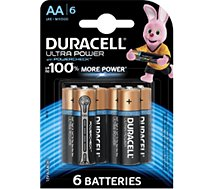 Pile Duracell  AA x6 Ultra Power LR06