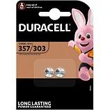 Pile Duracell  357/303, pack de 2 unités