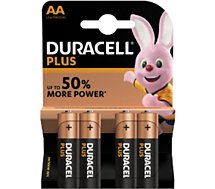Pile Duracell Plus Power AA/LR06, pack de 4 unités