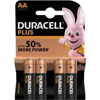 Duracell Plus Power AA/LR06, pack de 4 unités
